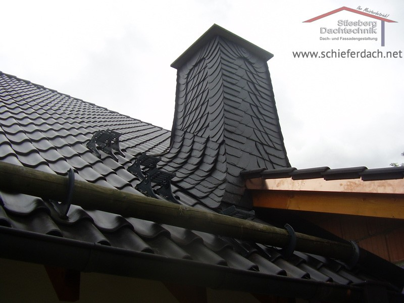 chimney - slate covering