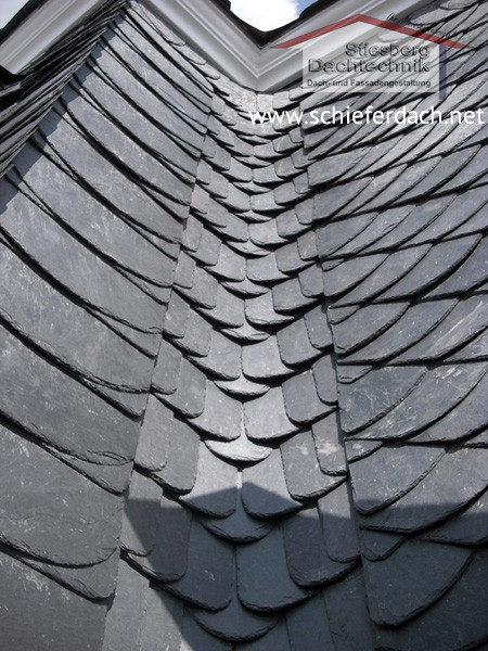 slate roof of an new mansion